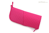 Kokuyo Neo Critz Transformer Pencil Case - Double-Zipper - Pink Dot / Pink Shiny - KOKUYO F-VBF131-1