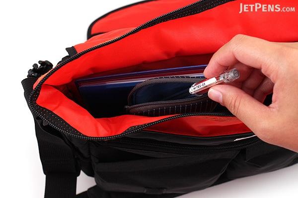 Kokuyo Neo Critz Pencil Case - Navy Blue Stripe / Blue - KOKUYO F-VBF131-2