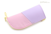 Kokuyo Neo Critz Mini Pencil Case - Pink & Purple / Yellow Dot - KOKUYO F-VBF132-1