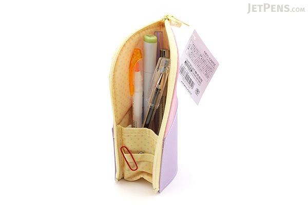 Kokuyo Neo Critz Mini Pencil Case - Pink & Purple / Yellow Dot - KOKUYO F-VBF132-1