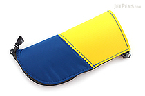 Kokuyo Neo Critz Mini Pencil Case - Blue & Yellow / Light Green - KOKUYO F-VBF132-3