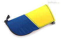 Kokuyo Neo Critz Mini Transformer Pencil Case - Blue & Yellow / Light Green - KOKUYO F-VBF132-3