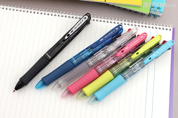 Pilot Acroball 4 4 Color Ballpoint Multi Pen - 0.7 mm - Clear Soft Pink - PILOT BKAB-45F-CSP