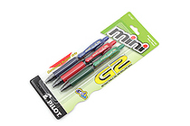 Pilot G-2 Mini Gel Pen - 0.7 mm - 3 Color Set - Blue / Red / Green - PILOT 31207