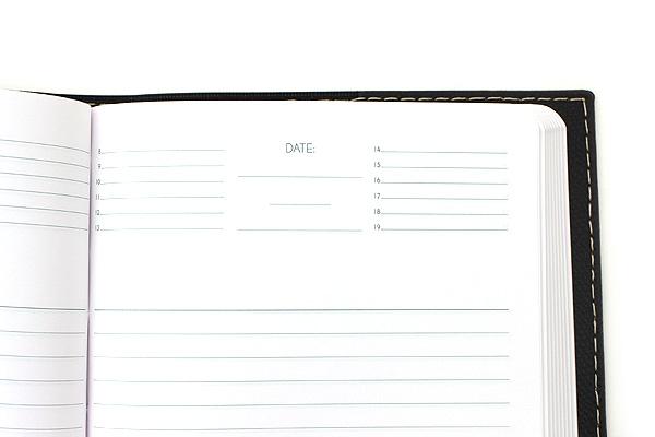 "Exacompta Club Leatherette Refillable Journal - Black - 5"" X 7"" - 192 Sheets - Lined/Undated - EXACOMPTA 1818/1"