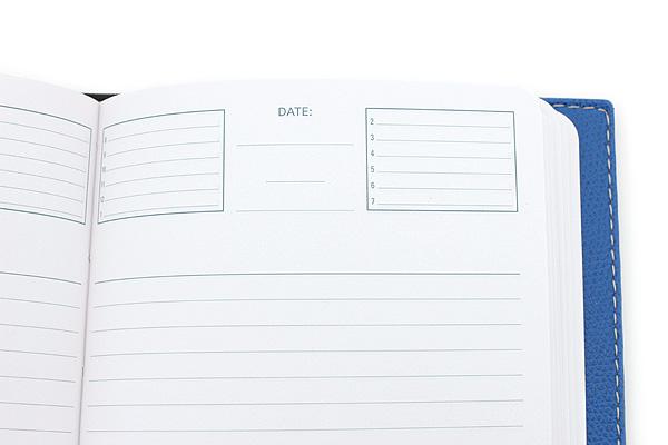 "Exacompta Club Leatherette Refillable Journal - Blue - 5"" X 7"" - 192 Sheets - Lined/Undated - EXACOMPTA 1818/4"