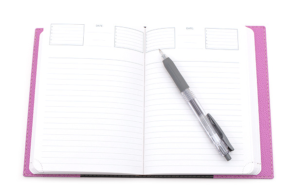 "Exacompta Club Leatherette Refillable Journal - Lilac Purple - 5"" X 7"" - 192 Sheets - Lined/Undated - EXACOMPTA 1818/16"