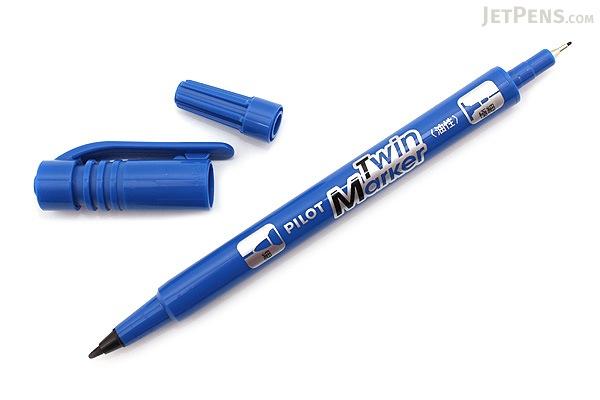 Pilot Oil-Based Twin Marker - Double-Sided - Extra Fine / Fine - Blue - PILOT MEF-12EU-L