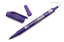 Pilot Oil-Based Twin Marker - Double-Sided - Extra Fine / Fine - Violet - PILOT MEF-12EU-V
