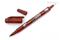 Pilot Oil-Based Twin Marker - Double-Sided - Extra Fine / Fine - Brown - PILOT MEF-12EU-BN