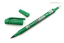 Pilot Oil-Based Twin Marker - Double-Sided - Extra Fine / Fine - Green - PILOT MEF-12EU-G