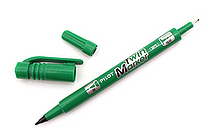 Pilot Oil-Based Twin Marker - Double-Sided - Extra Fine / Fine - Green - PILOT MEF-12EU-G