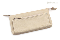 United Bees FL 4 Pocket Pen Case 3 - White (Beige) - UNITED BEES FL-4PN3-02