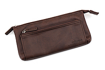 United Bees FL 4 Pocket Pen Case 3 - Brown - UNITED BEES FL-4PN3-06