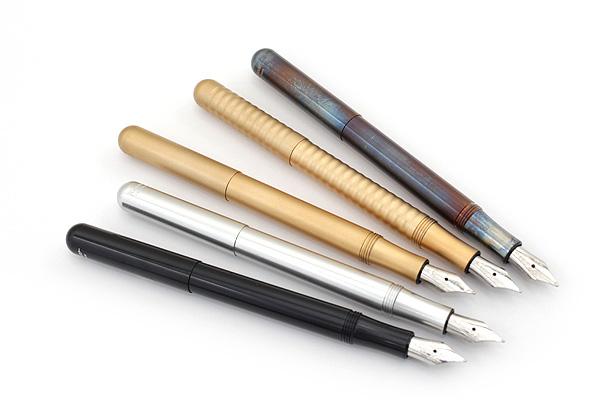 Kaweco Liliput Fountain Pen - Medium Nib - Brass Wave Body - KAWECO 10000726