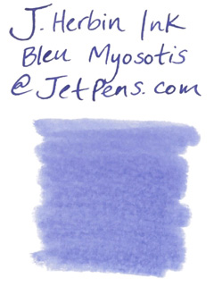 J. Herbin Fountain Pen Ink Cartridge - Bleu Myosotis (Forget-Me-Not Blue) - Pack of 6 - J. HERBIN H201/15