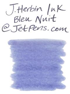 J. Herbin Fountain Pen Ink Cartridge - Bleu Nuit (Night Blue) - Pack of 6 - J. HERBIN H201/19