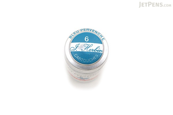 J. Herbin Fountain Pen Ink Cartridge - Bleu Pervenche (Periwinkle Blue) - Pack of 6 - J. HERBIN H201/13