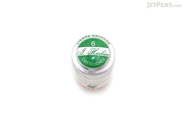 J. Herbin Lierre Sauvage Ink (Wild Ivy Green) - 6 Cartridges - J. HERBIN H201/37