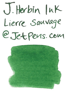 J. Herbin Fountain Pen Ink Cartridge - Lierre Sauvage (Wild Ivy Green) - Pack of 6 - J. HERBIN H201/37