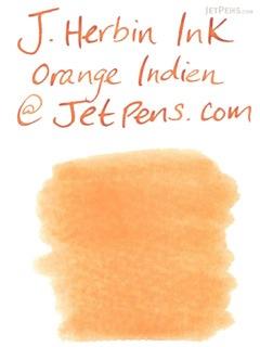 J. Herbin Orange Indien Ink (Indian Orange) - 6 Cartridges - J. HERBIN H201/57