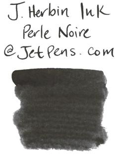 J. Herbin Fountain Pen Ink Cartridge - Perle Noire (Pearl Black) - Pack of 6 - J. HERBIN H201/09