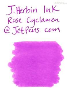 J. Herbin Fountain Pen Ink Cartridge - Rose Cyclamen (Cyclamen Pink) - Pack of 6 - J. HERBIN H201/66