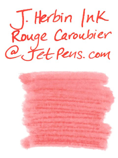 J. Herbin Fountain Pen Ink Cartridge - Rouge Caroubier (Carob Red) - Pack of 6 - J. HERBIN H201/22
