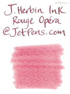 J. Herbin Rouge Opéra Ink (Opera Red) - 6 Cartridges - J. HERBIN H201/68