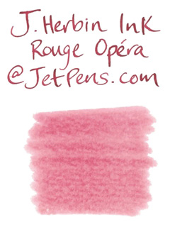 J. Herbin Fountain Pen Ink Cartridge - Rouge Opéra (Opera Red) - Pack of 6 - J. HERBIN H201/68