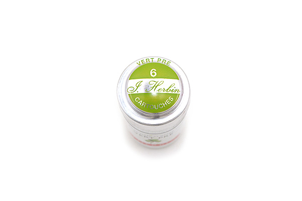 J. Herbin Fountain Pen Ink Cartridge - Vert Pré (Meadow Green) - Pack of 6 - J. HERBIN H201/31