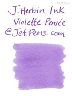 J. Herbin Violette Pensée Ink (Pensive Violet) - 6 Cartridges - J. HERBIN H201/77