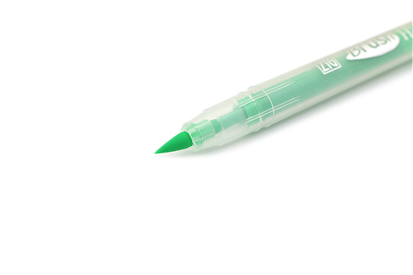 Kuretake Zig Brush Style Highlighter Pen - Green - KURETAKE BH-55-113