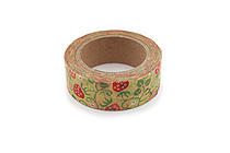 Kurochiku Japanese Pattern Washi Tape - Ichigokarakusa (Strawberry Arabesque) - 15 mm x 10 m - KUROCHIKU 71312904