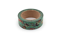 Kurochiku Japanese Pattern Washi Tape - Kokeshi (Doll) - 15 mm x 10 m - KUROCHIKU 71312907