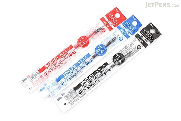 Pentel Hybrid Technica Gel Pen Refill - 0.4 mm - Red - PENTEL XKFGN4-B
