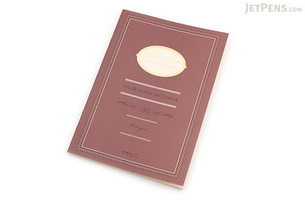 Midori Color Paper Notebook - A5 - Lined - Brown - MIDORI 15150-006