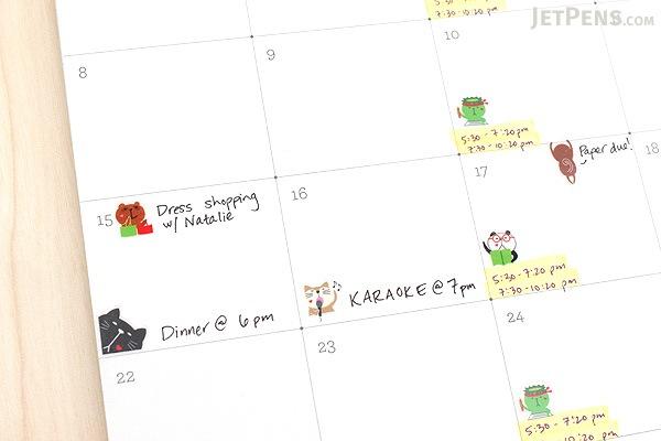Pine Book Schedule Stickers - Poyo Animals - Mark & Line - PINE BOOK TM00063