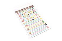 Pine Book Schedule Stickers - Poyo Animals - Mark & Line - PINE BOOK TM00063