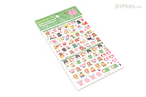 Pine Book Schedule Stickers - Poyo Animals - Annual & Daily Events - PINE BOOK TM00196