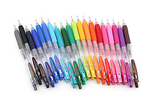 Zebra Sarasa Push Clip Gel Pen - 0.3 mm - 20 Color Bundle - JETPENS ZEBRA JJH15 BUNDLE