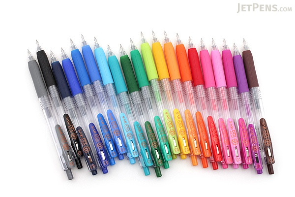 Zebra Sarasa Push Clip Gel Pen - 0.3 mm - Red - ZEBRA JJH15-R