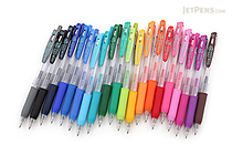 Zebra Sarasa Push Clip Gel Pen - 0.4 mm - 20 Color Bundle - JETPENS ZEBRA JJS15 BUNDLE