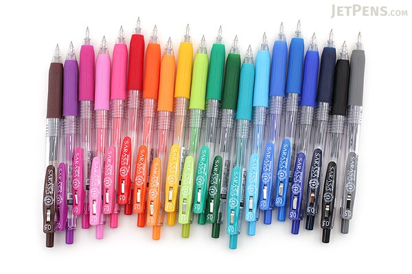 Zebra Sarasa Push Clip Gel Pen - 0.5 mm - Blue Black - ZEBRA JJ15-FB