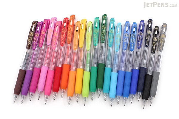 Zebra Sarasa Push Clip Gel Pen - 0.7 mm - Blue - ZEBRA JJB15-BL