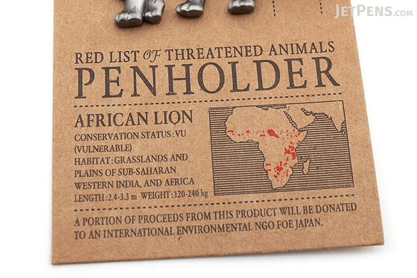 Mark's Red List of Threatened Animals Pen Holder - African Lion - MARK'S MPH-AN2-G