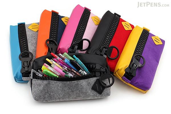 Raymay Big Zipper Pen Case - Pink - RAYMAY FY315 P