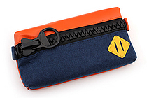 Raymay Big Zipper Pen Case - Navy - RAYMAY FY315 K