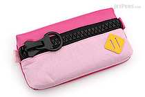 Raymay Big Zipper Pen Case - Pink - RAYMAY FY315 P