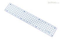Kyoei Orions Grid Ruler - 15 cm - Blue - KYOEI AH-15-B